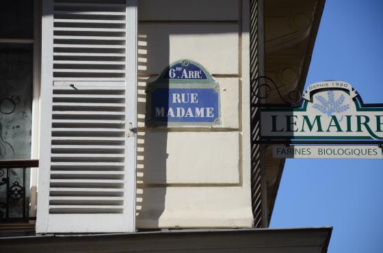rue Madame straatnaambordje