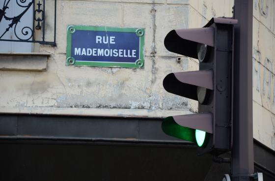rue Mademoiselle straatnaambordje