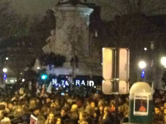 Place de la République, 7 januari 2015