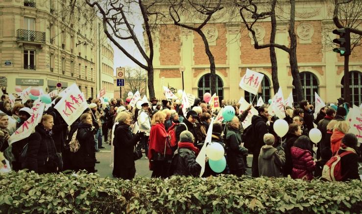 Demonstratie tegen het homohuwelijk