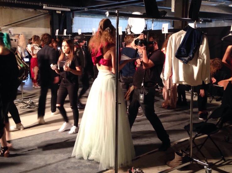 Backstage bij de fashion show van Dorhout Mees